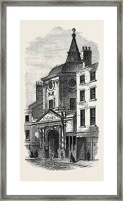 The Old College Of Physicians In Warwick Lane London Uk 1866 Framed Print