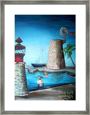 The Old Comanche Wharf St Croix Framed Print by Rosine Smith