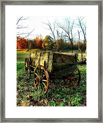 The Old Conestoga Framed Print by Julie Dant
