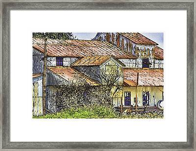 The Old Cotton Barn Framed Print by Barry Jones