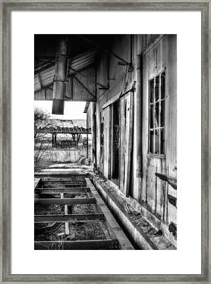 The Old Cotton Gin Bw Framed Print by JC Findley