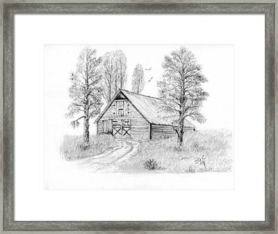 The Old Country Barn Framed Print by Syl Lobato