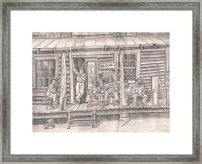 The Old County Store Framed Print by Beverly Marshall