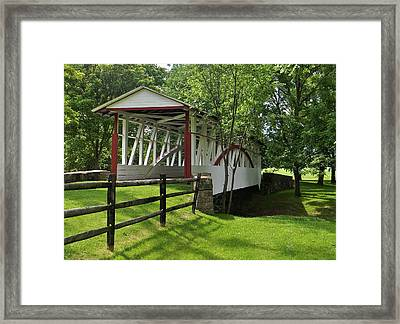 The Old Covered Bridge Framed Print