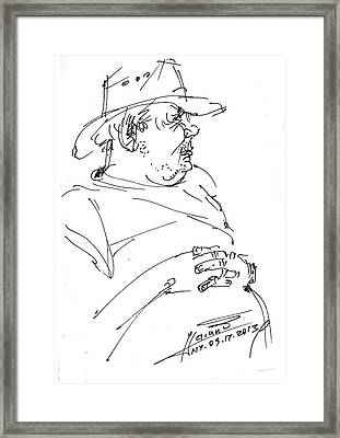The Old Cowboy Framed Print