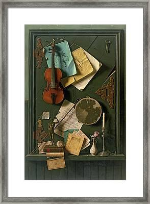 The Old Cupboard Door, 1889 Framed Print