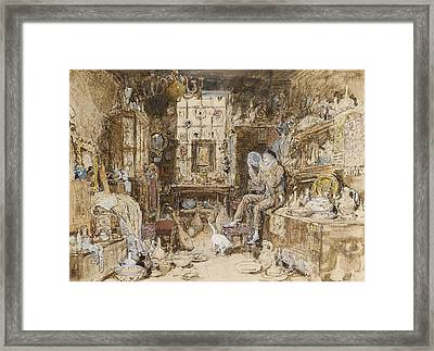 The Old Curiosity Shop Framed Print by Myles Birket Foster