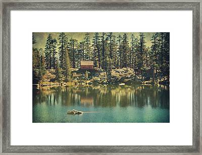 The Old Days By The Lake Framed Print by Laurie Search