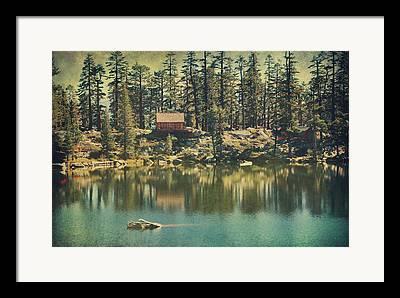 Cabin Digital Art Framed Prints