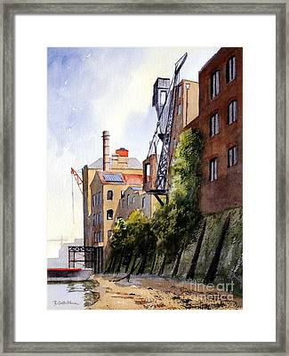 The Old Docks - Rotherhithe London Framed Print