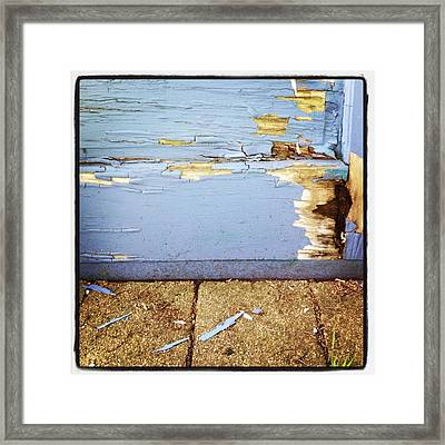The Old Door Framed Print by Christy Beckwith