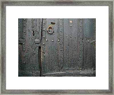 The Old Door Framed Print by France  Art