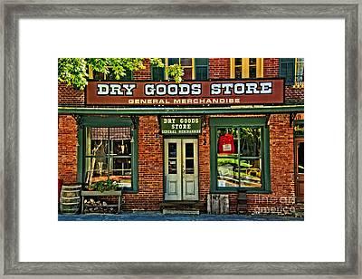 The Old Dry Goods Framed Print