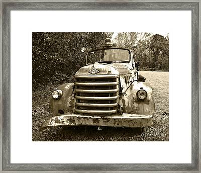 The Old Engine Framed Print by John Debar