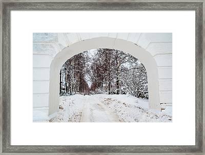 The Old Entrance To The Homestead Karabicha 1. Russia Framed Print by Jenny Rainbow
