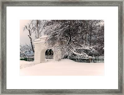 The Old Entrance To The Homestead Karabicha. Russia Framed Print