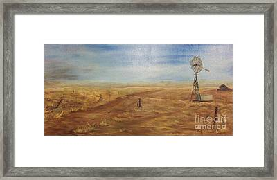 The Old Farm Framed Print by Affordable Art Halsey