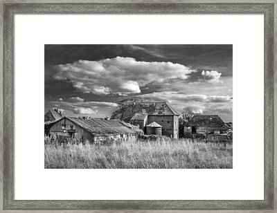 Framed Print featuring the photograph The Old Farm Buildings. by Gary Gillette