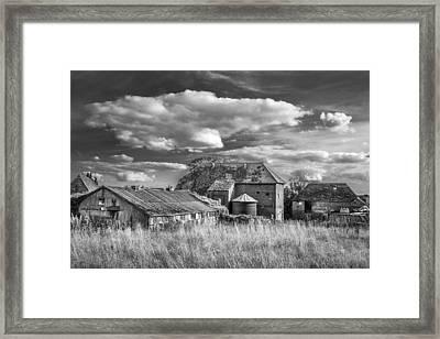 The Old Farm Buildings. Framed Print