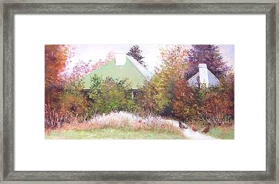 The Old Farm House Framed Print by Jan Matson