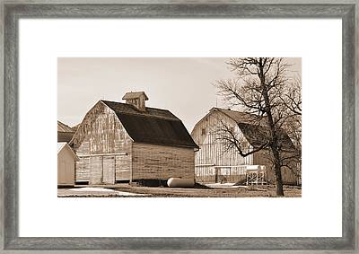 Framed Print featuring the photograph The Old Farm by Kirt Tisdale