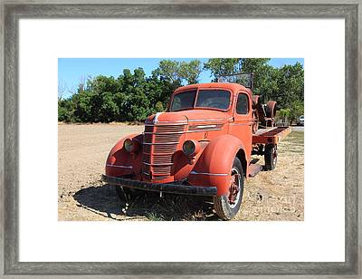 The Old Farm Truck 5d23971 Framed Print by Wingsdomain Art and Photography