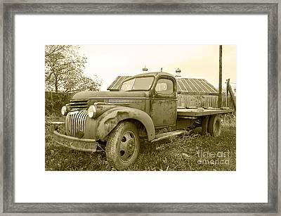 The Old Farm Truck Framed Print by John Debar