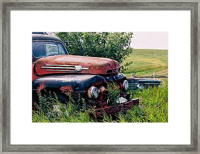 The Old Farm Truck Framed Print
