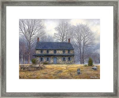 The Old Farmhouse Framed Print by Chuck Pinson