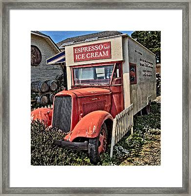 The Espresso And Ice Cream Truck Framed Print by Thom Zehrfeld