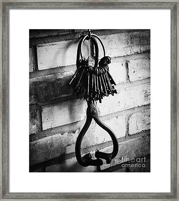 Framed Print featuring the photograph The Old Fire House Keys by JRP Photography