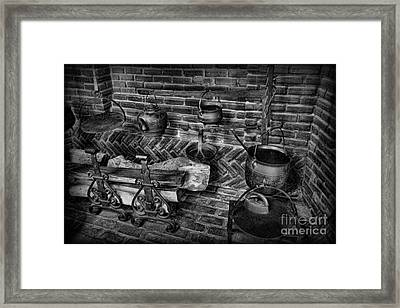 The Old Fireplace Framed Print