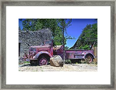 The Old Firetruck Framed Print