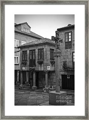 The Old Firewood Marketplace Bw Framed Print