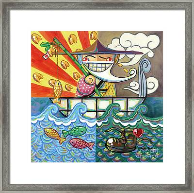 The Old Fisherman And My Luck Framed Print
