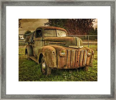 The Old Ford Pickup Truck Framed Print