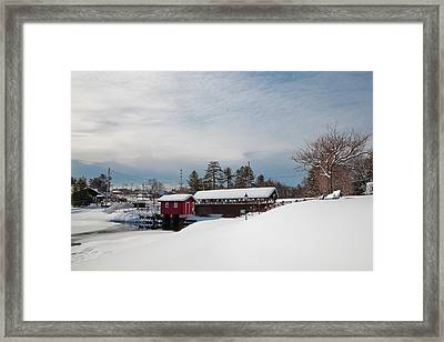 The Old Forge Covered Bridge Framed Print