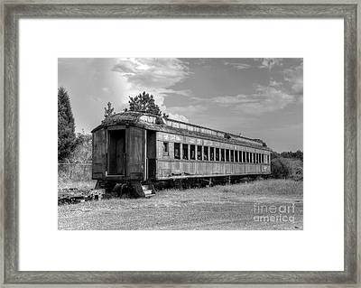The Old Forgotten Train Framed Print by Kathy Baccari