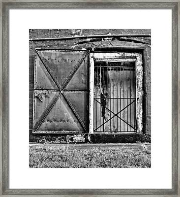 The Old Fort Gate-black And White Framed Print