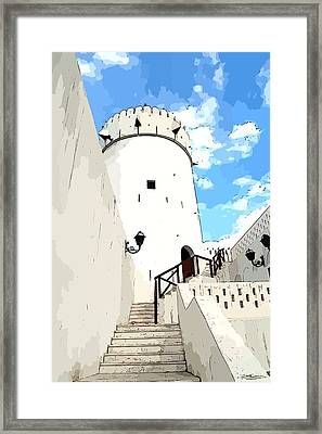 The Old Fort Framed Print by Peter Waters