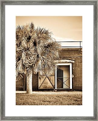 The Old Fort-sepia Framed Print