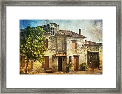 The Old French House Framed Print