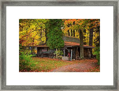 The Old Garage  Framed Print by Emmanuel Panagiotakis