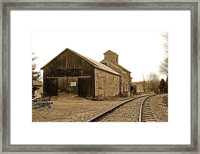 The Old Garage Framed Print by Mike Flynn