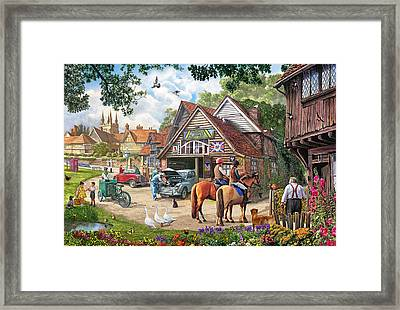 The Old Garage Framed Print