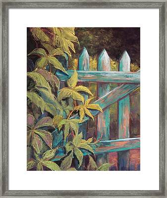 The Old Gate Framed Print by Candy Mayer