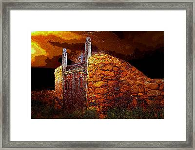 The Old Gates Of Galisteo Framed Print