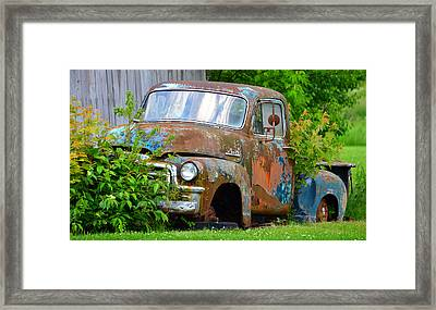 The Old Gmc Framed Print by David Lee Thompson