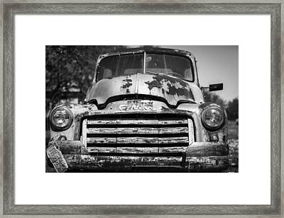 The Old Gmc Truck Framed Print