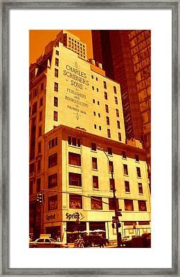 The Old Good Days In Manhattan Framed Print